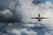 plane to seconds to take off before a storm