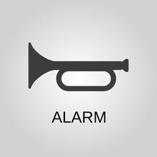 Alarm Icon. Alarm Symbol. Flat...