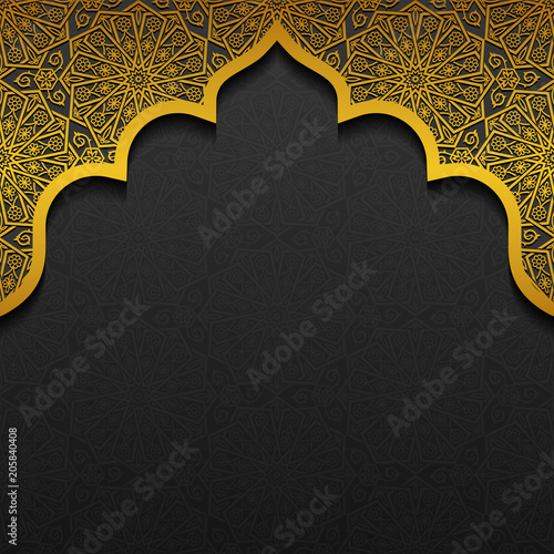 Fotografia  Floral background with traditional ornament