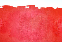 Partly Painted Wall In Red Colors