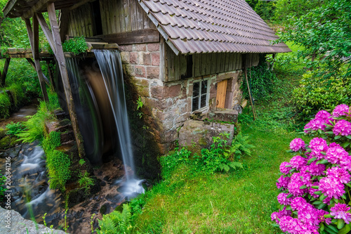 A small water mill in Germany, Schwarzwald / Black Forest, May 2018