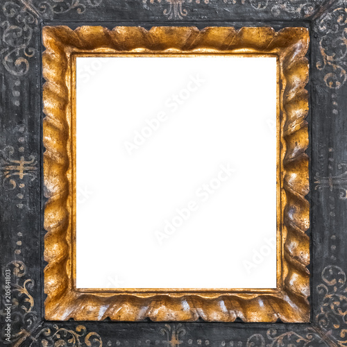 Carved wooden frame. Isolated on white - Buy this stock photo and ...