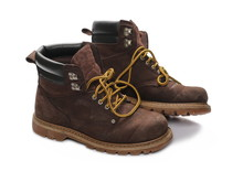 Old Brown Pair Of Working Boot...