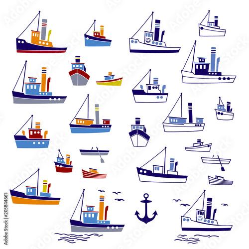 Fotografía  働く船のイラスト,
