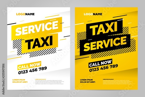 Vector layout design template for taxi service Wallpaper Mural