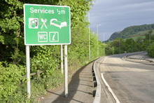 Motorway Services Sign Country...