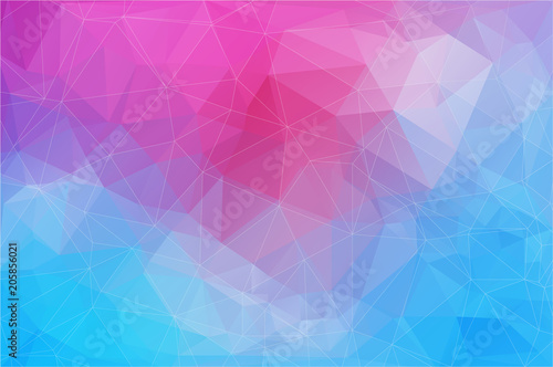 Horizontal abstract polygonal banner. Vector Background
