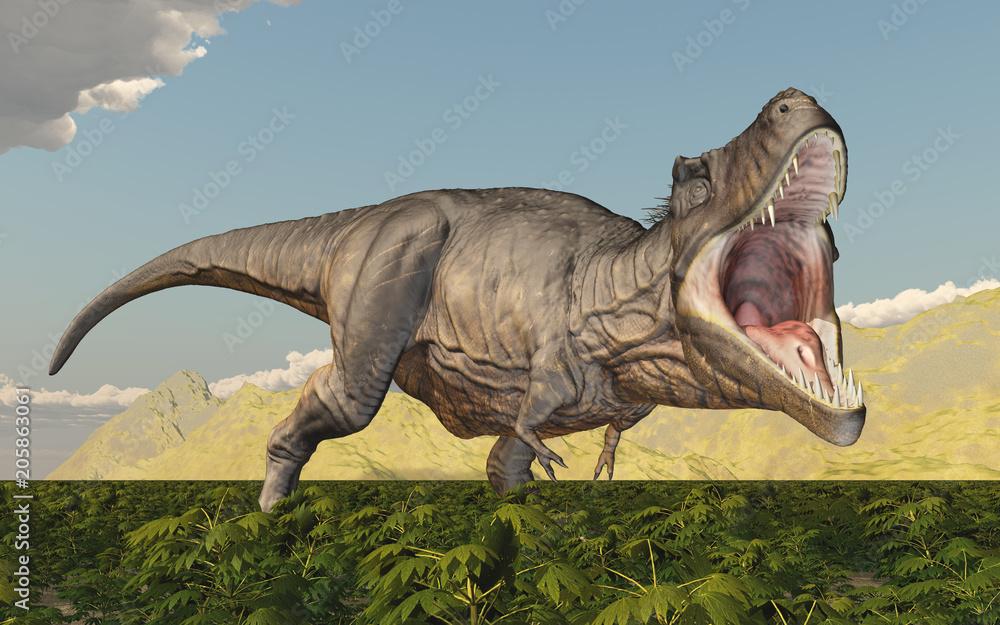 Tyrannosaurus Rex in einer Landschaft