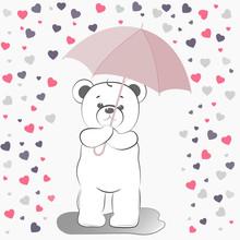 Vector Teddy Bear. The Bear Fell In Love