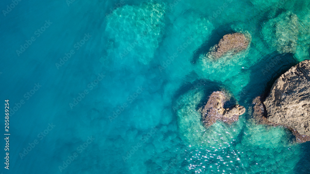 Fototapety, obrazy: Aerial view on the sea. Beautiful natural seascape at the summer time