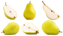 Set Fresh Pears Whole, Cut In ...
