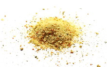 Spice Mix For Soups And Food Isolated On White Background