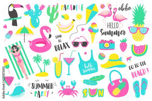 Letni zestaw elementów projektu wakacje
