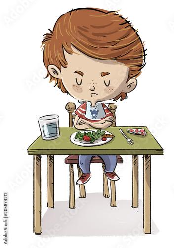 Fotografie, Obraz  niño que no quiere comer