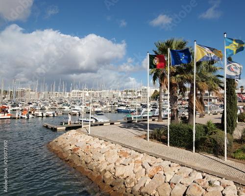 Tuinposter Poort Marina in Lagos, Algarve - Portugal