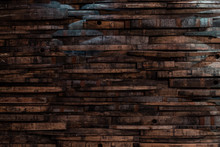 Bourbon Barrel Staves On Wall Texture