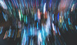 canvas print picture - Blurred abstract bokeh background of the city at night