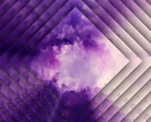 Violet Concentric Rhombus. Abs...