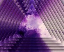 Violet Concentric Prism Triang...