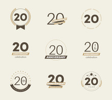 20 Years Anniversary Logo Set....