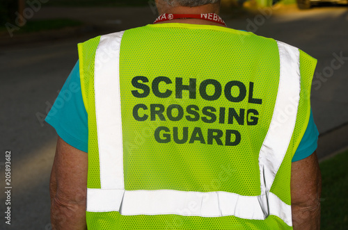 School Crossing Guard Vest Canvas Print