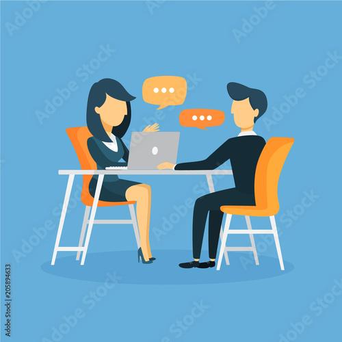 Fotografía Business interview illustration.