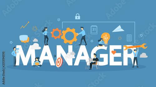 Fotografía  Manager concept illustration.