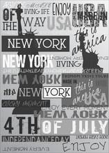 New York Usa NYC Poster Gray E...