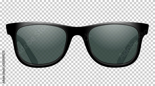 Leinwand Poster sun glasses vector illustration realistic