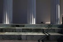 Bauwerk Mit Säule In Wien