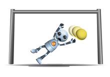 Little Robot Goal Keeper