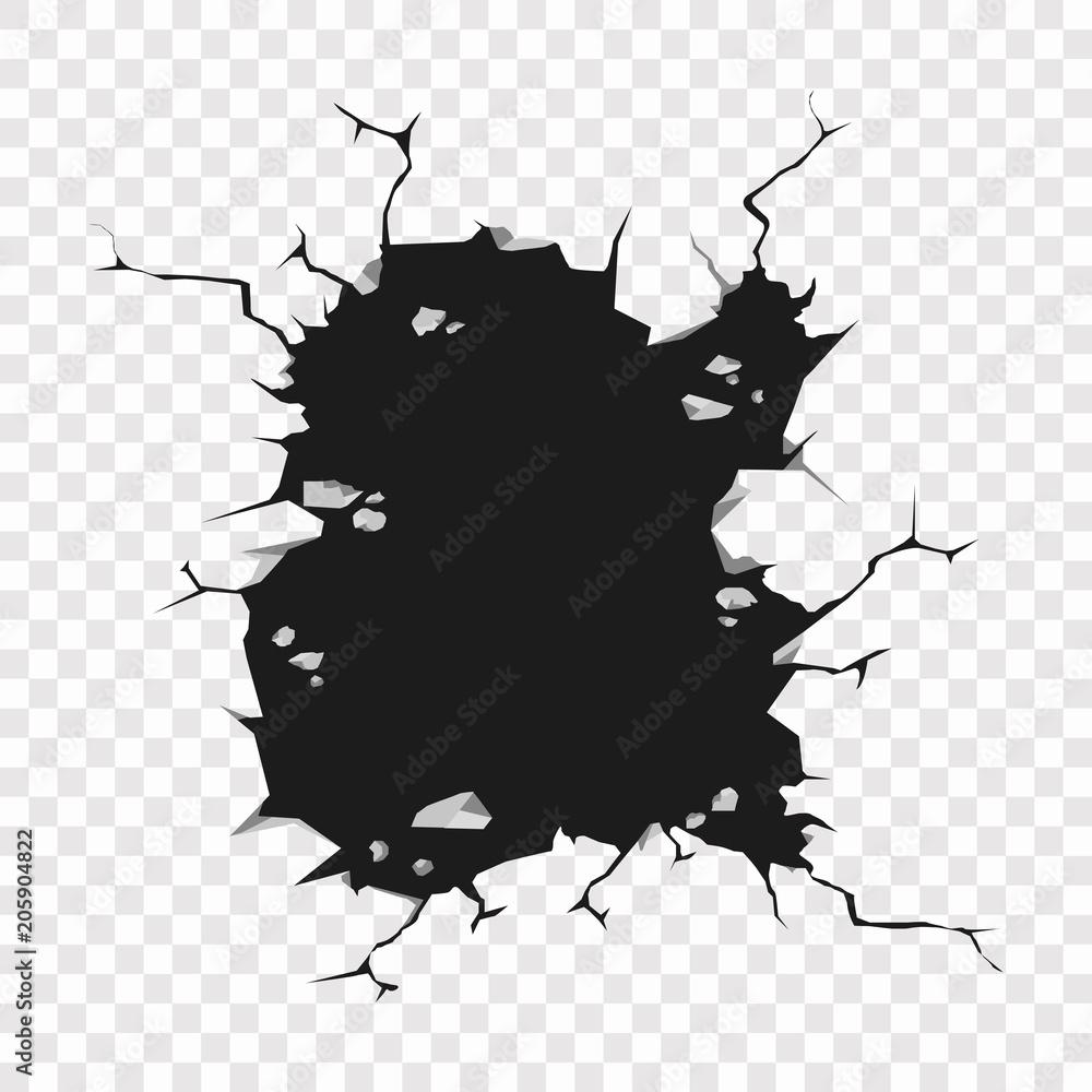 Fototapeta Cracked hole