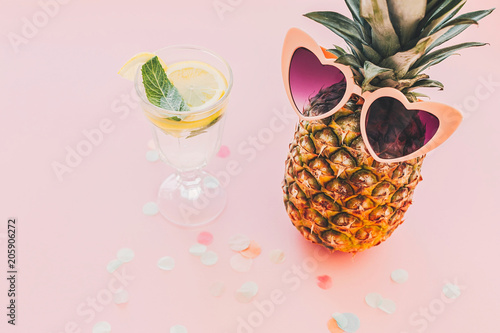 Photo  summer vacation and party concept