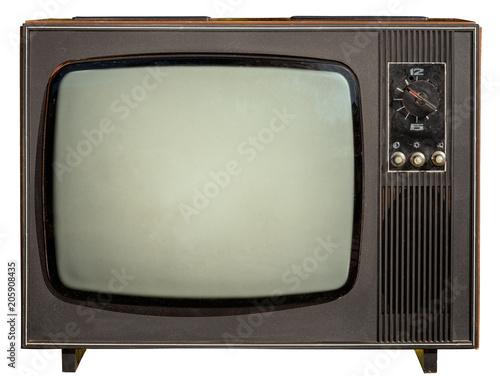Photo old 1960s tv isolated on white background