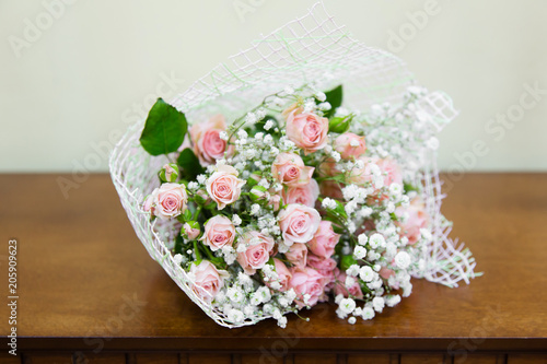 In de dag Bloemen Beautiful bouquet with pink roses