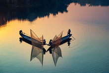 Vietnamese Fishermen In Famous...