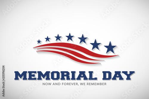 Memorial Day Stars and Stripes Vector Illustration Fototapeta