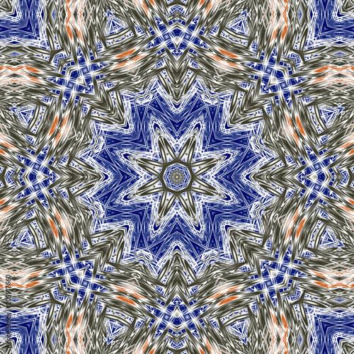 Abstract fractal mandala computer-generated illustration Fototapet