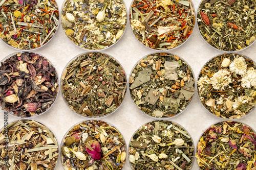 Fotografering  herbal blend tea set