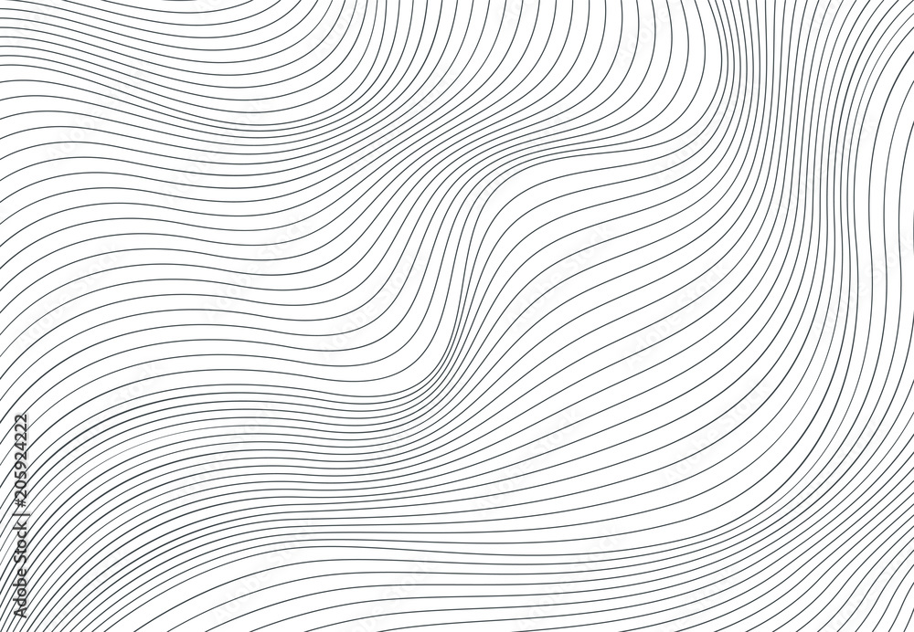 Fototapety, obrazy: Wavy vector background