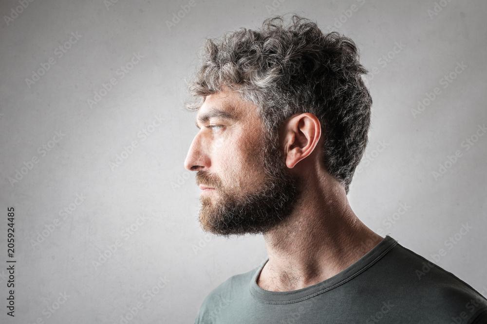 Fototapeta Profile of handsome man