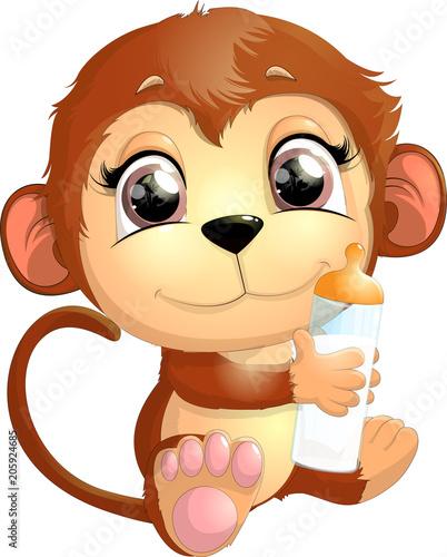 Fototapety, obrazy: beautiful cute monkey