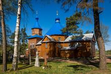 Wooden Orthodox Church In Kuraszewo, Podlaskie, Poland