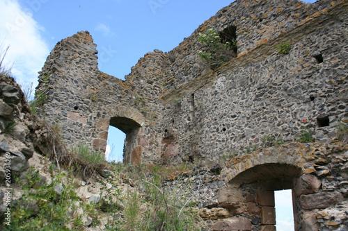 In de dag Rudnes Ruins of Somosko Fortress, Slovakia