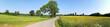 Panorama in Feld und Wiese