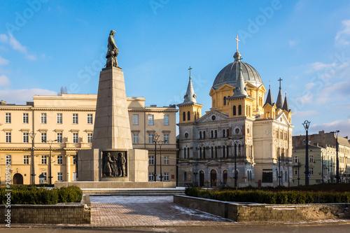 Obraz Freedom square in Lodz city, Lodzkie, Poland - fototapety do salonu