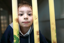 Child In Toy Cage