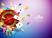Casino Illustration With Roule...