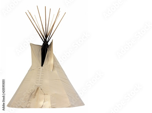 Native American Tipi Canvas Print