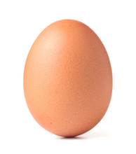 Single Chicken Egg Isolated On...